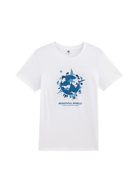 環遊世界印花T恤