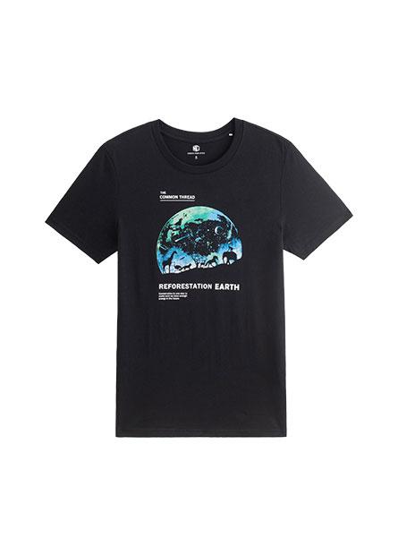 星空地球印花T恤