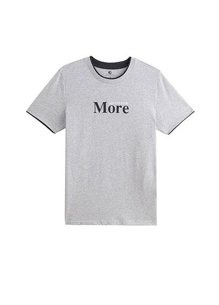 雙層領印字T恤