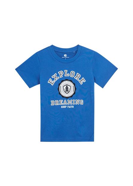 男童美式文字排版T恤