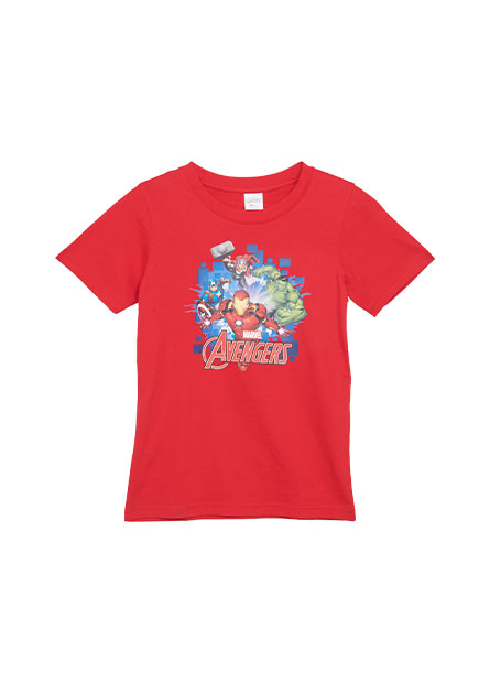 男童漫威角色印花T恤