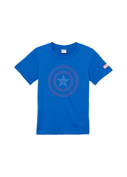男童美國隊長貼鑽T恤