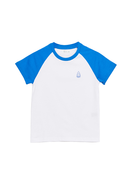 男童圓領拉克蘭袖T恤