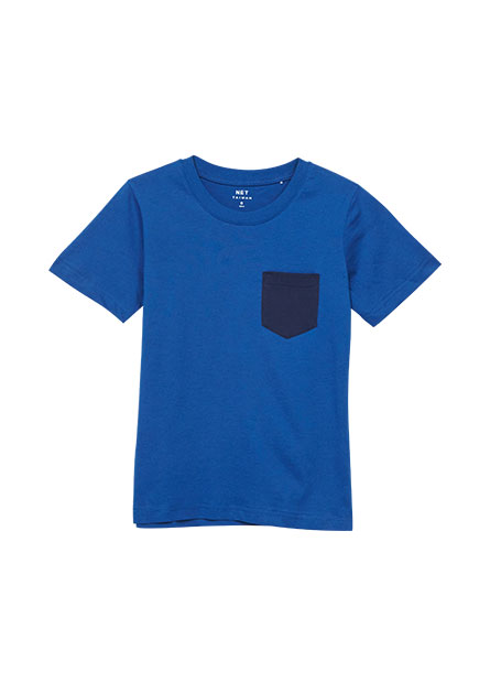 男童口袋印花T恤