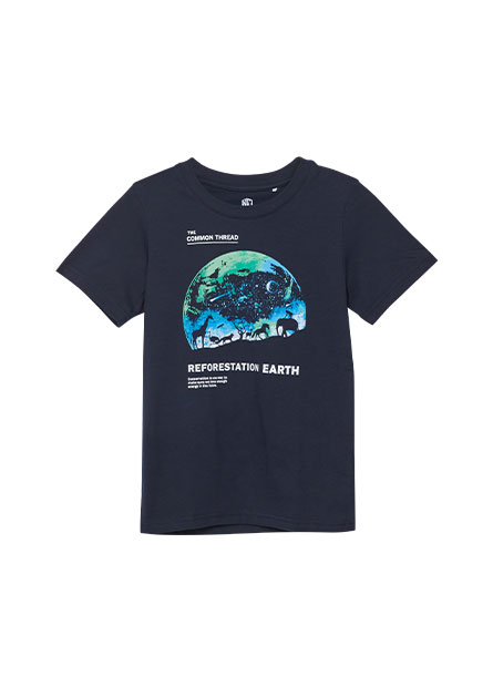 男童星空動物印花T恤