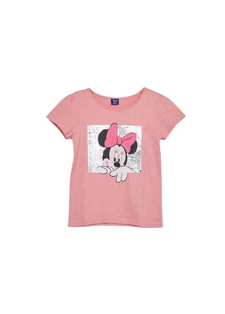 女童米妮雙面亮片T恤