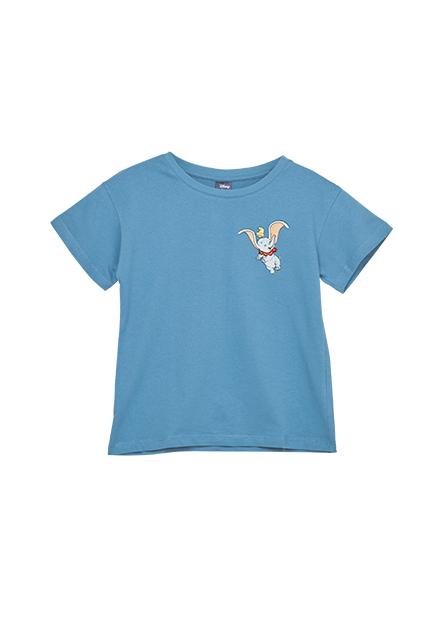 女童迪士尼落肩刺繡T恤