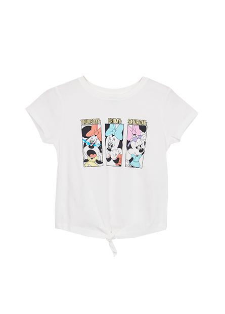 女童米妮印花綁結T恤
