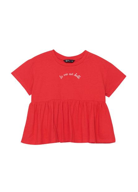 女童印字傘狀上衣