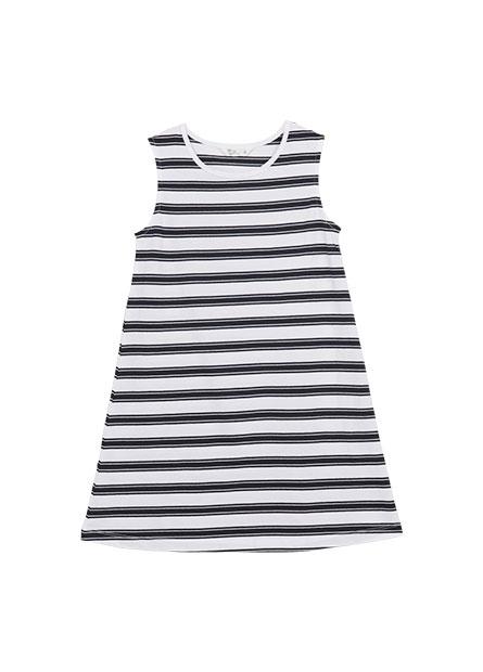 女童條紋無袖洋裝
