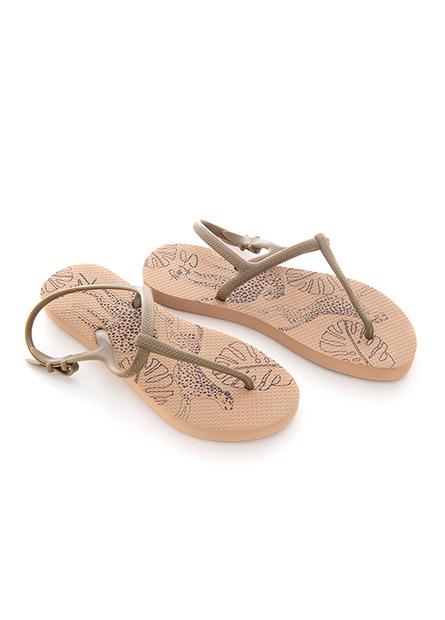 K 女T字帶海灘鞋涼鞋