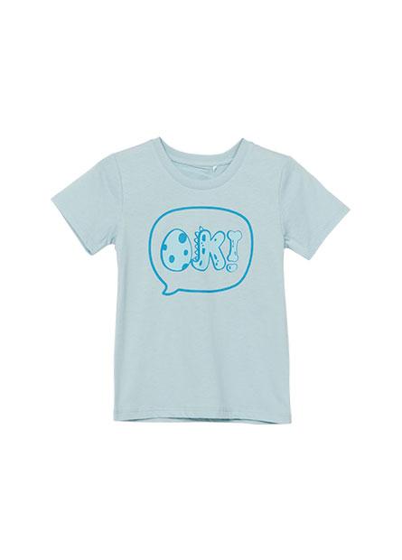 男嬰文字泡泡印花T恤