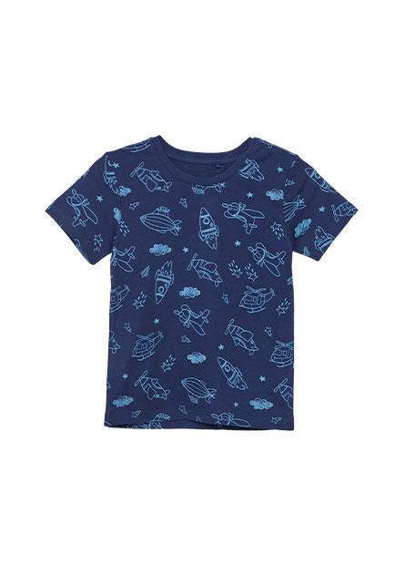 男嬰線框滿版印花T恤