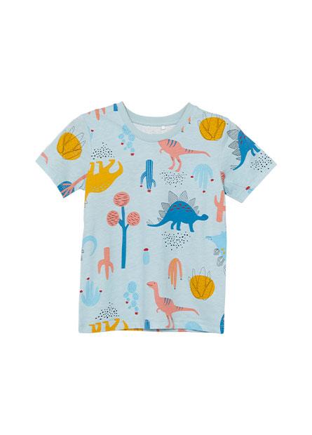 男嬰恐龍滿版印花T恤