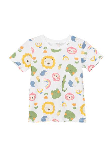 女嬰滿版動物印花T恤