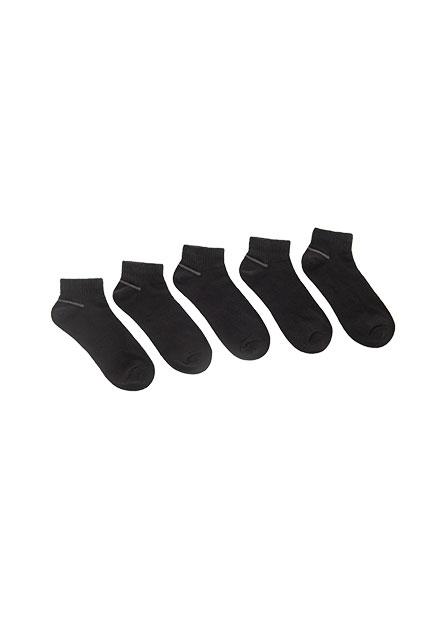 男簡約素面裸襪(五入)