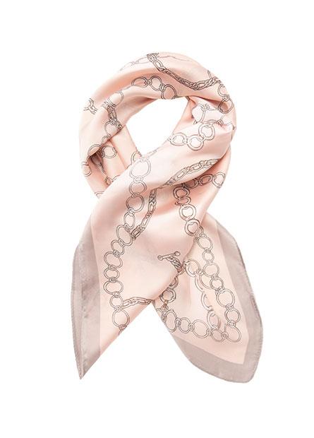 鎖鏈印花方巾