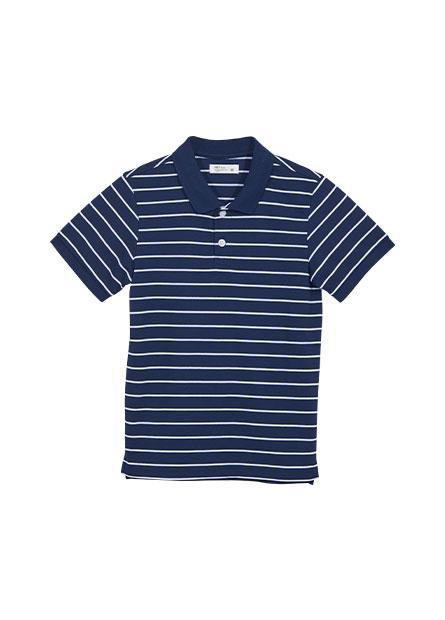 男童機能條紋POLO衫