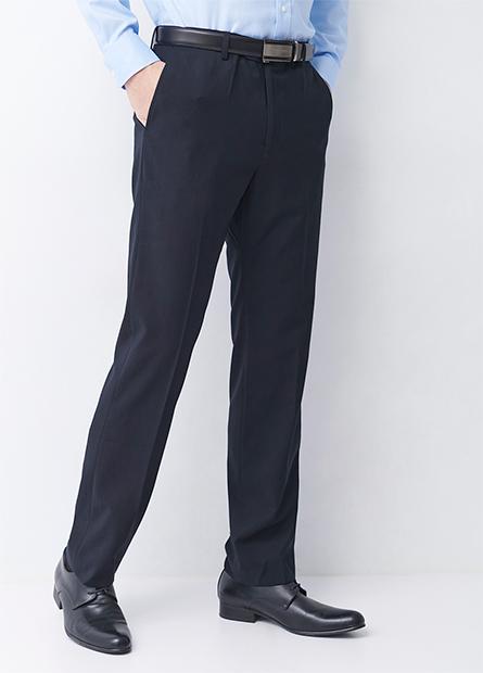 Regular Fit標準斜口袋西裝褲
