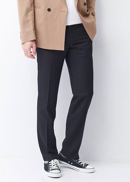 Slim Fit修身斜口袋西裝褲