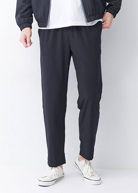 鬆緊綁帶單層運動長褲
