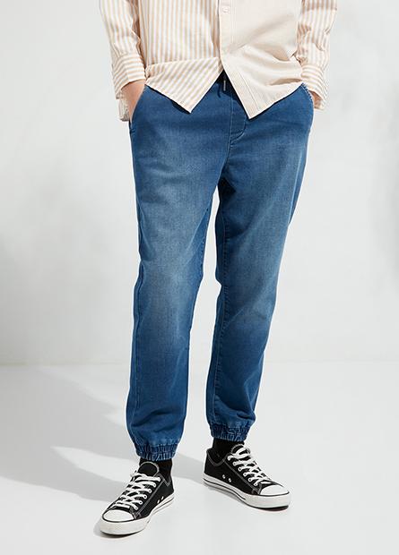 Regular Fit束口牛仔褲