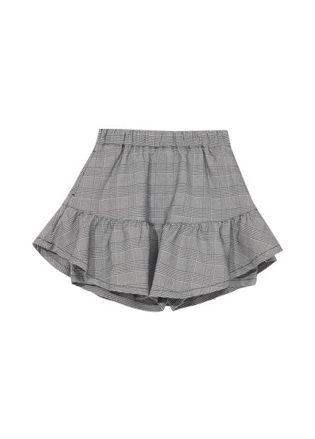 女童格紋短褲裙