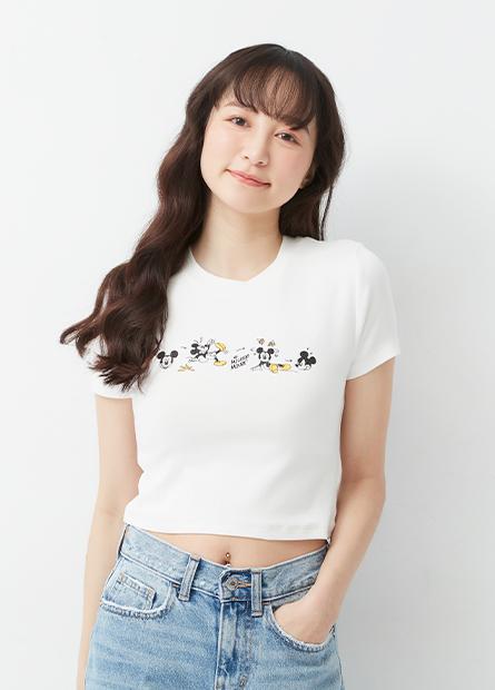 米奇合身短版T恤