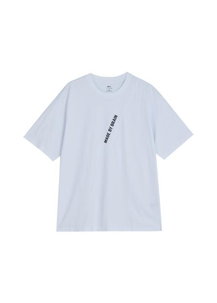 拼接印字寬鬆T恤