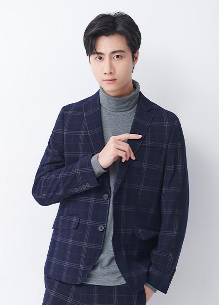 韓版合身雙釦西裝外套