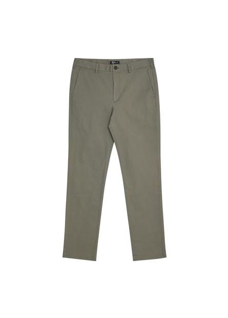 Slim Fit彈性斜紋休閒褲