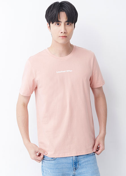 寬鬆Limited Offer印字T恤