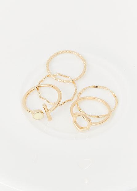 多款造型戒指組(五入)