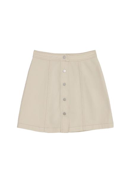 A字排釦短裙