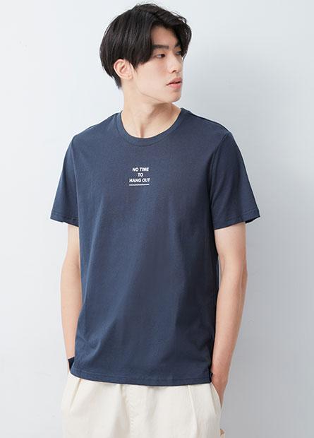 寬鬆標語印字T恤