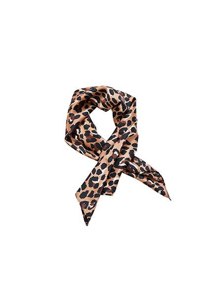 豹紋印花方巾