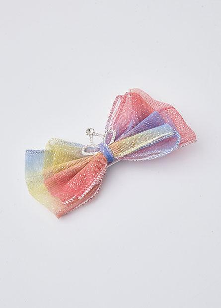 女童亮片蝴蝶結髮夾