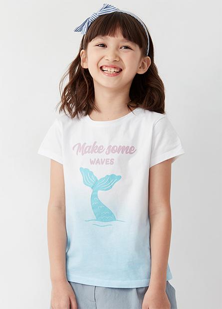 女童美人魚漸層T恤