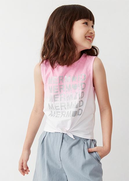女童美人魚扭結背心