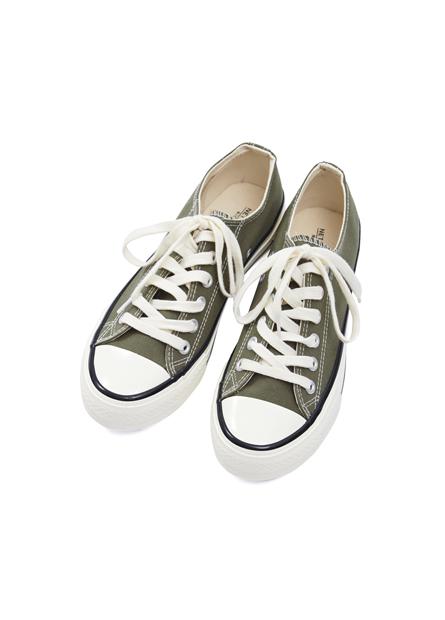 多色奶油底帆布鞋