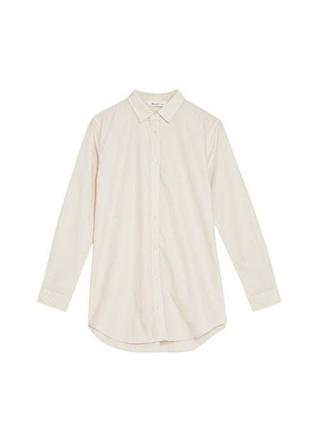 基本長版商務長袖襯衫
