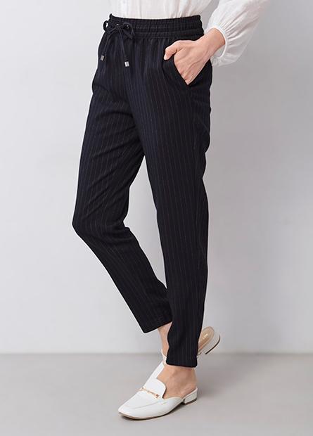 鬆緊綁帶錐形長褲