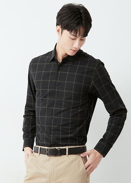 Slim Fit修身基本長袖襯衫
