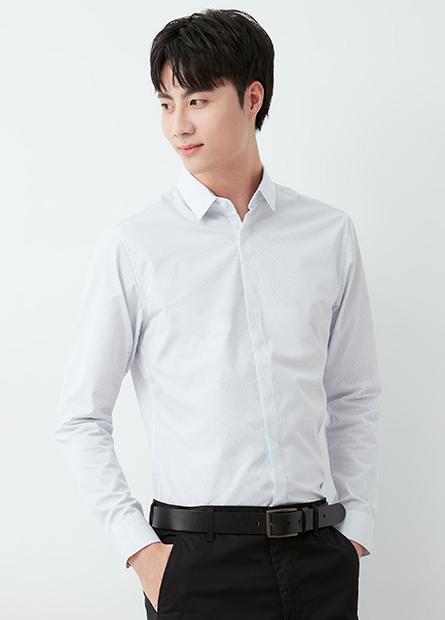 修身商務長袖襯衫