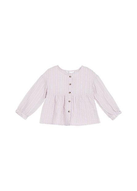 女童傘狀長袖襯衫