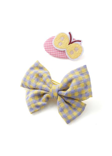 女童蝴蝶結造型髮夾組