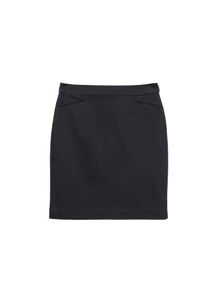 微光澤商務短裙