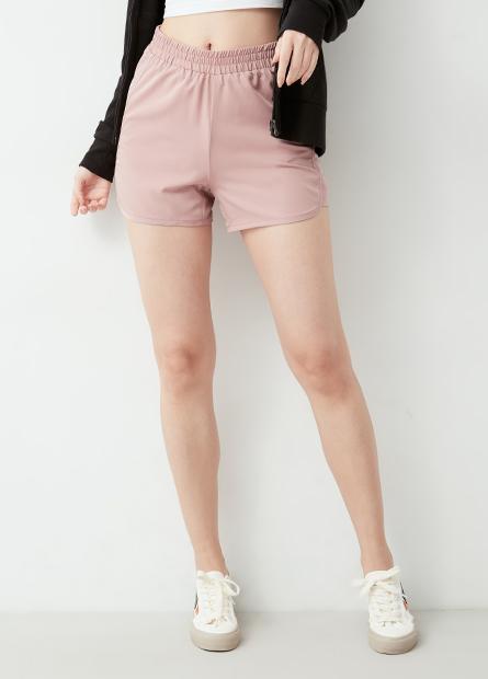 滑面鬆緊單層運動短褲