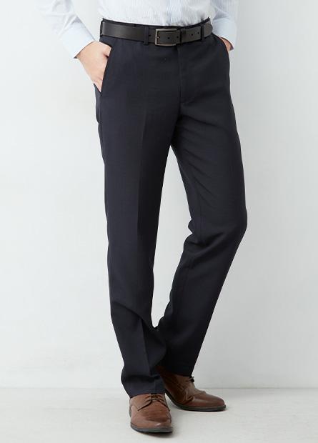 Regular Fit斜口袋西裝褲