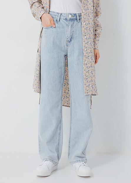 顯瘦直筒牛仔褲